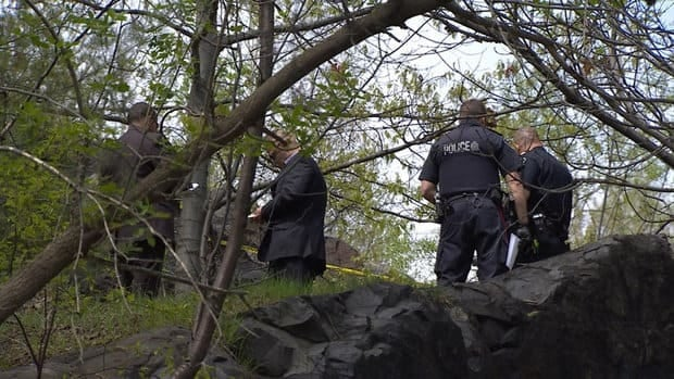 Sudbury police are investigating near the stairway between Marymount Academy and Ste. Anne's Road after a deceased male was found.