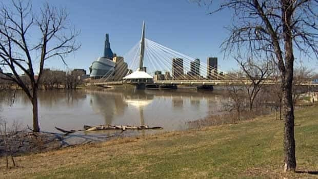 River levels were high in Winnipeg this past weekend, but not high enough to cause major flooding.
