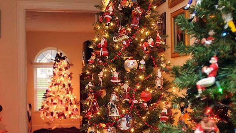 Burning Christmas Tree.Quebec City Burns Christmas Trees For Last Time Cbc News