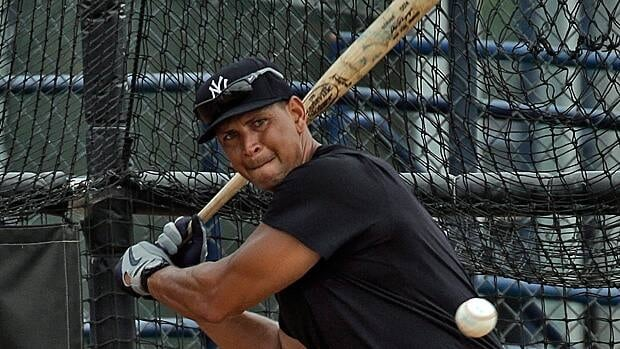 New York Yankees third baseman Alex Rodriguez, seen taking a cut in a rehab session last month in Florida, is resting to test out his injured hip in an actual game.