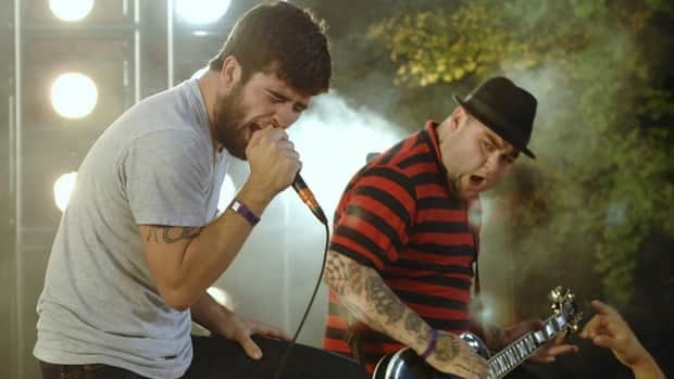 George Pettit (left) singer of Alexisonfire, was one of 139 Hamilton bands, music venues and promoters to sign a petition denouncing a casino in downtown Hamilton.