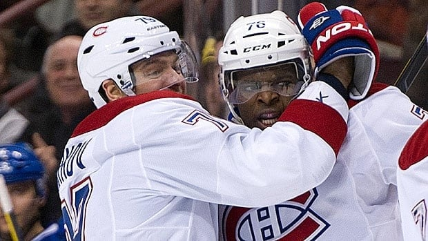 P.K. Subban, right, and Andrei Markov helped spark Montreal's offence and potent power play from the blue-line.