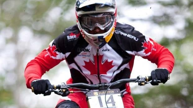 Canada's Steve Smith, of Cassidy, B.C., here in a previous season's event, won the silver medal at a World Cup mountain biking event in Italy on Sunday.