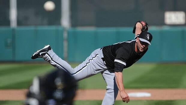 Jesse Crain, seen here at White Sox spring training, won't pitch for Canada at the World Baseball Classic. The Toronto-born relief pitcher missed 22 games last season with shoulder problems.