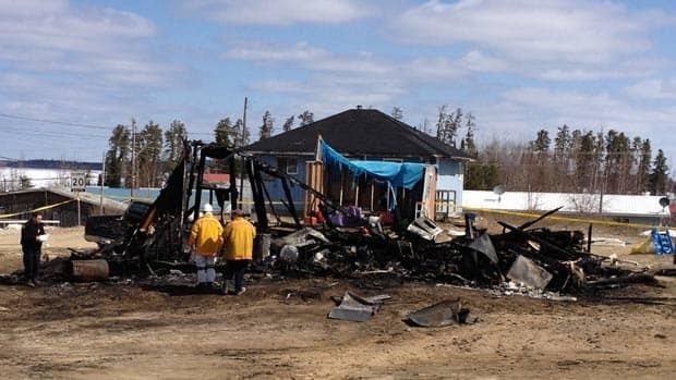 Investigators from Ontario's Fire Marshall's office visited the site of Wednesday's fatal house fire in Wunnumin Lake First Nation.