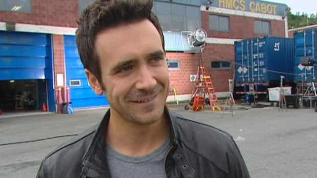 Republic of Doyle star and co-creator Allan Hawco on the set of his CBC television series.