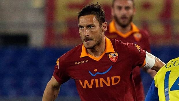 Francesco Totti, left, is one of the stars of AS Roma.