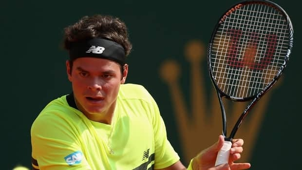 Milos Raonic, seen last week at Monte Carlo, is back in the semifinals at the Barcelona tournament.