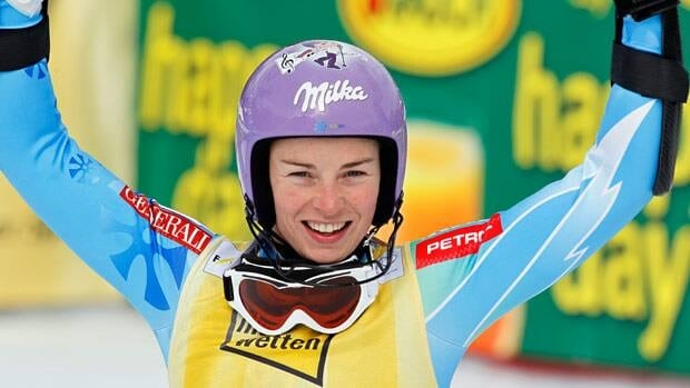 Tina Maze of Slovenia takes, seen winning a slalom race in Germany on the weekend, is going for four discipline titles.