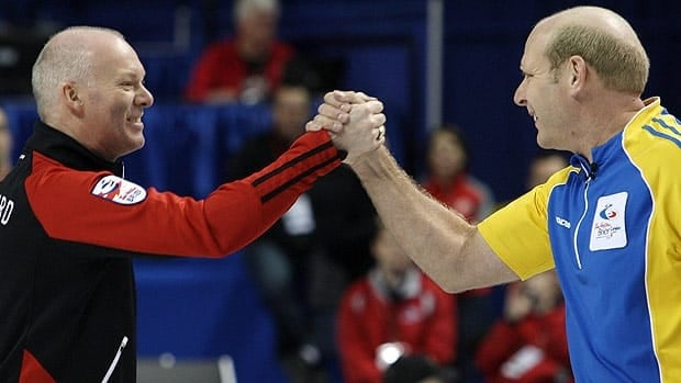 Kevin Martin, right, will look to win a record fifth Brier, while Glenn Howard will try to defend his championship. Jeff Stoughton, not pictured, could upset the plans of both.