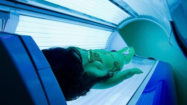 The proposed legislation would ban young people under the age of 18 from using tanning beds like these.