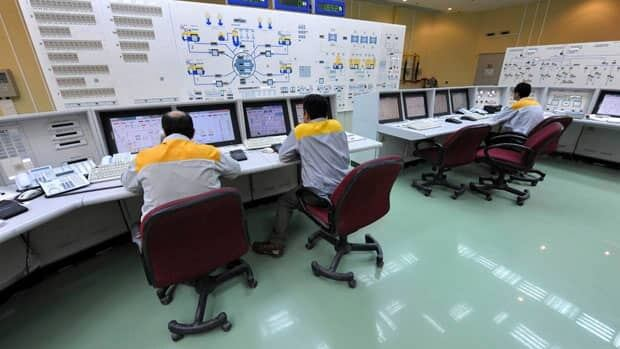 A 2010 photo shows the inside of Iran's Bushehr nuclear plant. A number of computers at the facility were infected with Stuxnet 1.x, but the plant's systems were not affected.