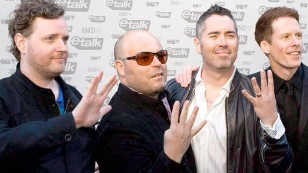 The Barenaked Ladies, seen at the 2009 Juno Awards, have been dropped from the upcoming Animal House Broadway musical, says executive producer Matty Simmons.