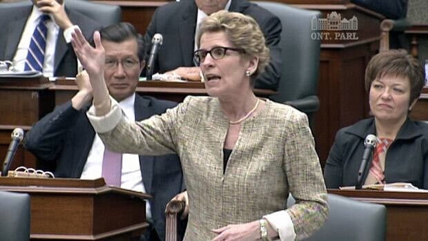 Premier Kathleen Wynne says the government will not be held hostage by the NDP's demands for the upcoming budget.