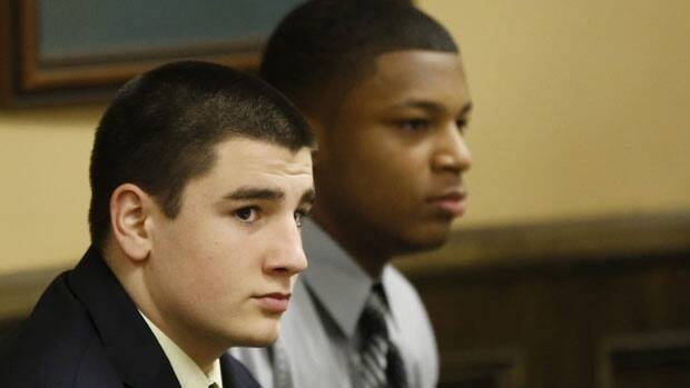 Trent Mays, 17, left, and Ma'lik Richmond, 16, right, were found guilty Sunday of raping a 16-year-old girl who was intoxicated at the time in August 2012.
