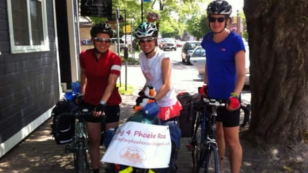 Francine Darroch, Daun Lynch and Heather Hillsburg will be cycling across Newfoundland for their Riding for Phoebe Rose campaign to raise awareness for childhood cancer.