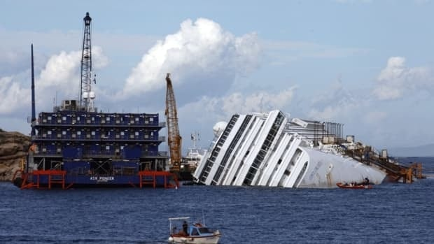 The waters around the capsized cruise liner Costa Concordia are part of a protected marine sanctuary for dolphins, porpoises and whales.