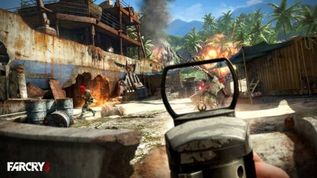 Far Cry 3, a first-person shooter about a group of friends stranded on a lawless tropical island following a vacation gone wrong, received the highest number of votes from the public among 10 finalists for the Future Shop Fans' Choice Award.