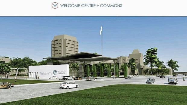 One of the first projects is an $8-million welcome centre for students at the corner of Wyandotte Street west and Sunset Avenue.