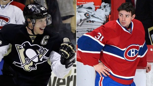Most Leafs fans would love to see a first-round matchup against Carey Price, right, and the Montreal Canadiens, while avoiding Sidney Crosby, left, and the Pittsburgh Penguins.