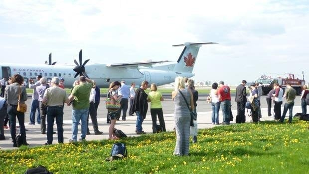 Tires on an Air Canada Express plane blew shortly before takeoff last week in Toronto. Passengers were forced to wait on the tarmac until they could be returned to the terminal.