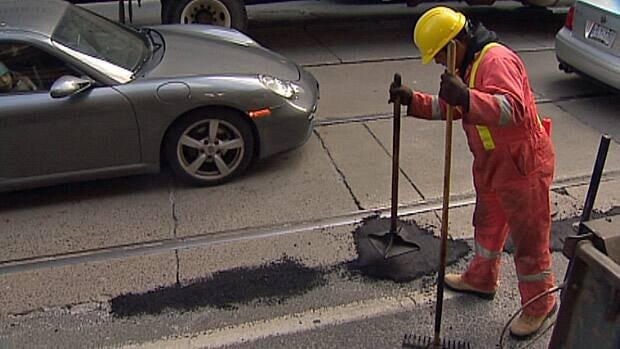 The city has 40 crews working to fill potholes on city streets this week.