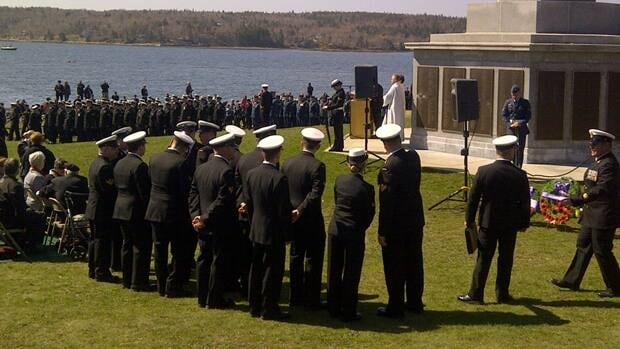 Thousands of members from the military gathered Sunday morning at Point Pleasant Park in Halifax.