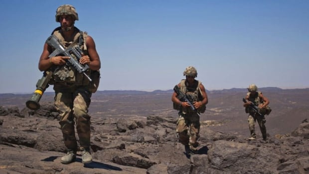 French soldiers patrol northern Mali in March. The key jobs of the new United Nations peacekeeping force will be to stabilize key population centres, support the re-establishment of government authority, and assist the transitional authorities in restoring constitutional order.