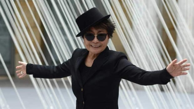 Yoko Ono poses at the Schirn Kunsthalle in Frankfurt in February at the opening of the exhibit Yoko Ono: Half-A-Wind Show.