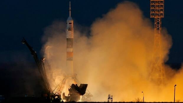 The Soyuz-FG rocket booster with Soyuz TMA-07M spaceship blasts off from the Russian-leased Baikonur cosmodrome in Kazakhstan in December. Russia's space agency says that in 2015, a rocket booster is expected to deliver a space exploration vehicle with up to 25 kg of scientific equipment to the moon.