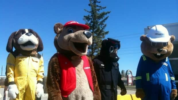 Mascots were on hand for the family-friendly event Disaster Alley Sunday.