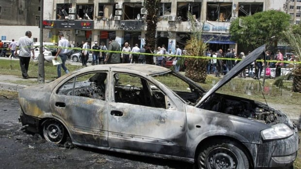 The blast was the second in as many days in the capital Damascus as the Syrian civil war enters its third year.