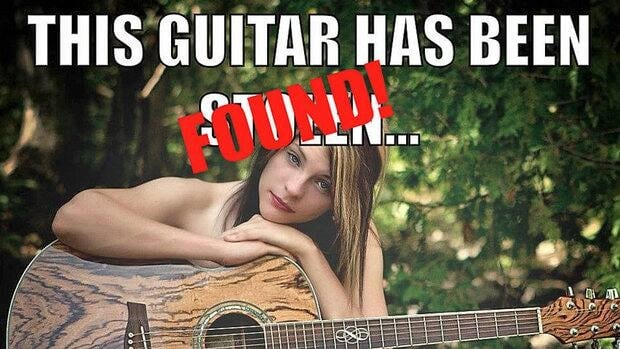 Janie Chadwick and her guitar have been reunited after it was stolen from her car.