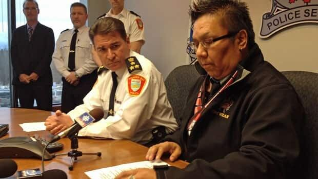 Thunder Bay Police Chief JP Levesque and Dennis Franklin Cromarty principal Jonathan Kakegamic said they're taking steps towards building trust during a media conference on Monday.