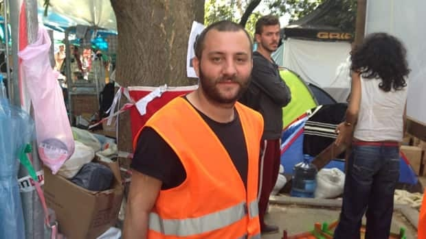 Burak Sofuoglu, a lawyer who studied at the University of Toronto, says he will not leave Gezi Park. 'If [the Turkish government] wants this park, they will have to kill us here,' he says.