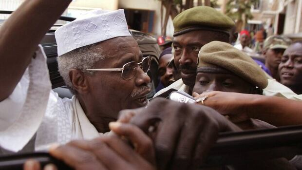 Chadia's former dictator Hissene Habre, left, shown in Senegal in 2005, is set to appear in court in February to face accusations of torture, crimes against humanity and war crimes.
