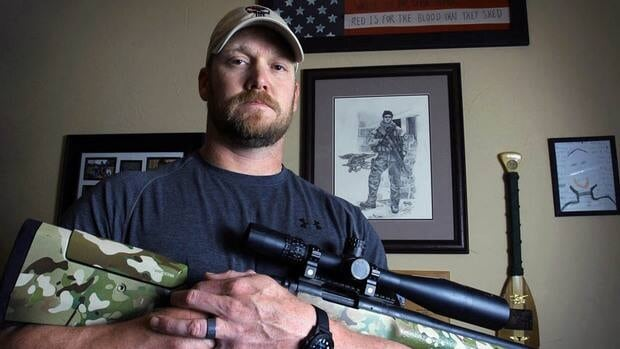 Chris Kyle, seen last April in Midlothian, Tex., served four combat tours in Iraq, according to his book.