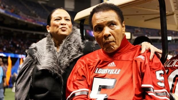 Muhammad Ali prior to the start of the Allstate Sugar Bowl at Mercedes-Benz Superdome on January 2, 2013 in New Orleans, Louisiana.
