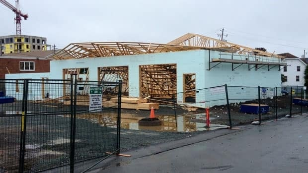 There were no reported injuries when parts of a roof collapsed on Wyse Road.