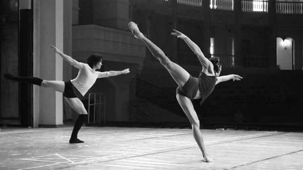 Buryatian National Ballet dancers rehearse works by Peter Quanz, who worked with them for 11 weeks to create a ballet that reflected local traditions.