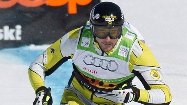 Canada's Nick Zoricic, top, speeds down the skicross course in Grindelwald Switzerland.