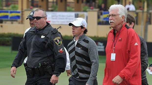 Rory McIlroy of Northern Ireland walked off the course on March 1 in Palm Beach Gardens, Fla.