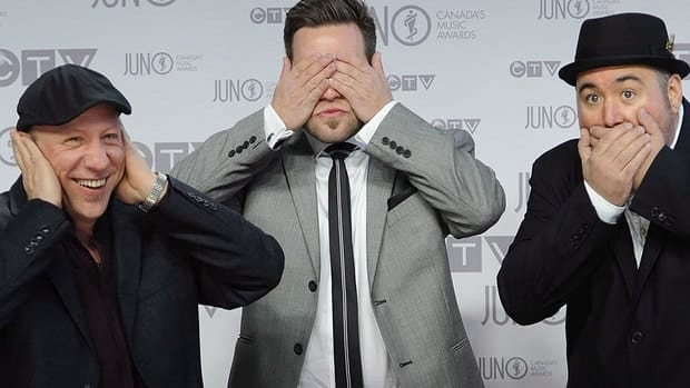Ottawa band MonkeyJunk, seen here at the 2012 Junos gala, took three trophies at Monday night's Maple Blues Awards.