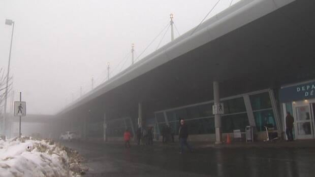Heavy fog caused many flights to be delayed or cancelled at St. John's International Airport on Friday.