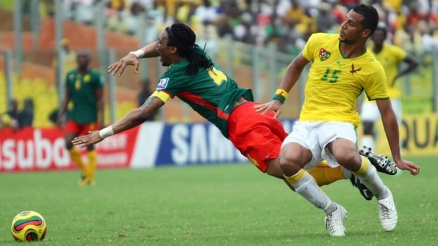 Togo was penalized for fielding Alexys Romao, right, who was ineliglble to play in a World Cup qualifying match against Cameroon because of a one-match suspension.