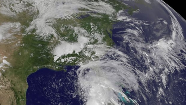 Remnants of tropical storm Andrea, shown as it was still forming, will drop 25 to 45 millimetres of rain on the Maritimes this weekend.