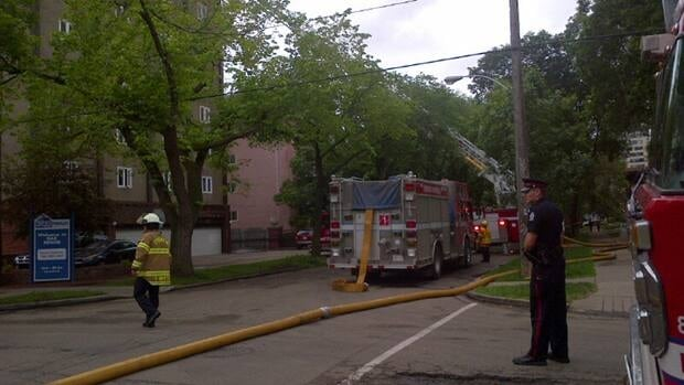 Fire crews are currently battling an apartment fire in Oliver near 117th Street and 102 Avenue.