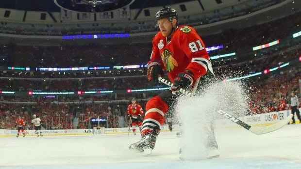 Chicago Blackhawks forward Marian Hossa was tied for the team lead with 15 points in the playoffs.