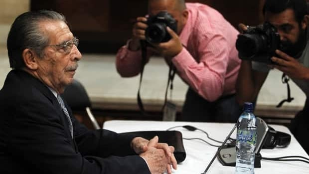Former Guatemalan dictator Efrain Rios Montt sits in the Supreme Court of Justice in Guatemala City on April 19. The genocide trial of Rios Montt is mired in uncertainty following a top court decision to appoint a new judge.