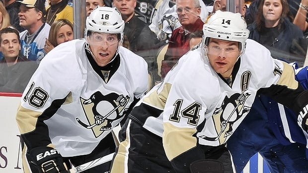 James Neal, left, and Chris Kunitz both came over to Pittsburgh in February trades engineered by Pittsburgh general manager Ray Shero, although in different seasons.
